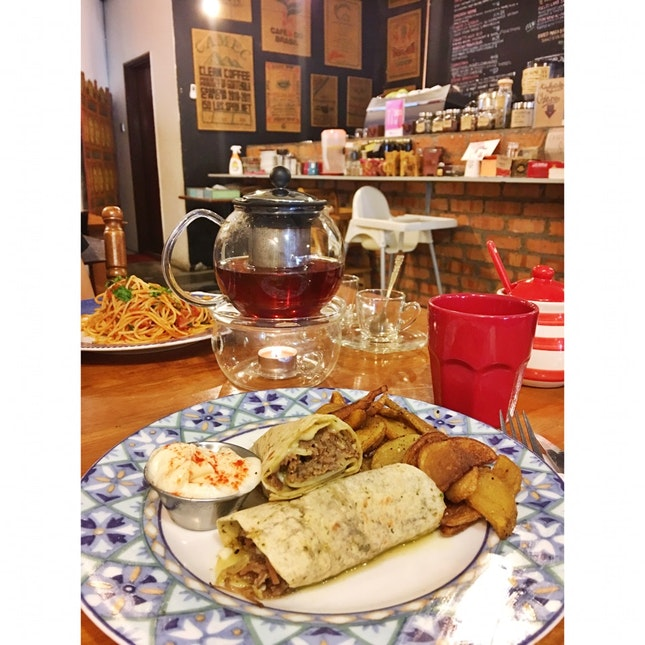Lamb Shawarma Wrap With Shahi