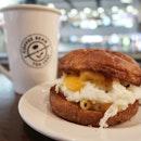 Mac & Cheese with Egg Brioche, Small Latte (2 for $10)   WFH kinda breakfast?