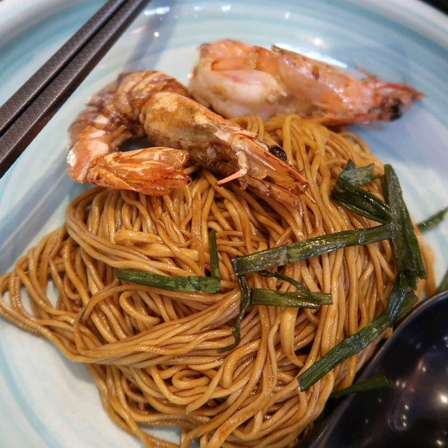 Scallion Dry Noodle with Prawns (Cold)