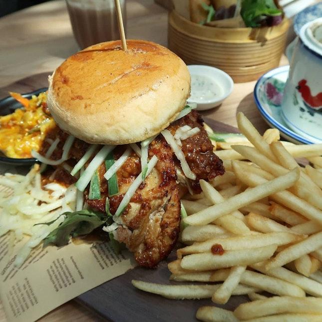 Chicken Satay Burger ($17)