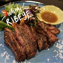 Charcoal Grilled Whisky Ribeye ($26)