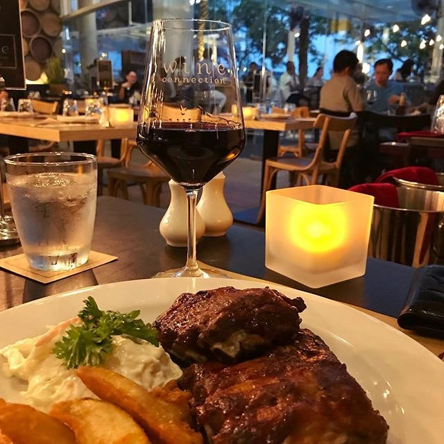 Baby pork ribs w🍷🍷🍷 #wine #porkribs #fries #redwine #frenchwine #winecollection #bistro #afterwork #winebar #fridaynight #TGIF #foodie #foodporn #foodiegram #westernfood #burpple #burpplesg #exploresingapore