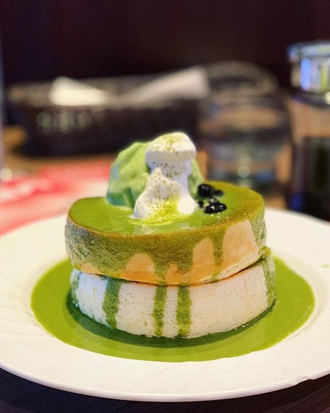 Fluffy matcha pancakes 🥞🥞🥞 · #pancake #pancakes #pancakeart #matcha #matchapancakes #icecream #cafe #cafestagram #dessert #foodie #foodiegram #foodporn #foodphotography #hoshinocoffee #hoshinocoffeesg #weekend #exploresingapore #burpple #burpplesg