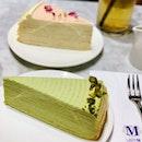 Longing for the upcoming 3-day holiday...Yassss 🍰🍰🍰 · #ladym #ladymnewyork #millecrepes #cake #cakestagram #cakeporn #dessert #dessertporn #tea #rose #pistachio #foodie #foodporn #foodiegram #lifestyle #exploresingapore #orchardroad #igsg #sgig #burpple #burpplesg