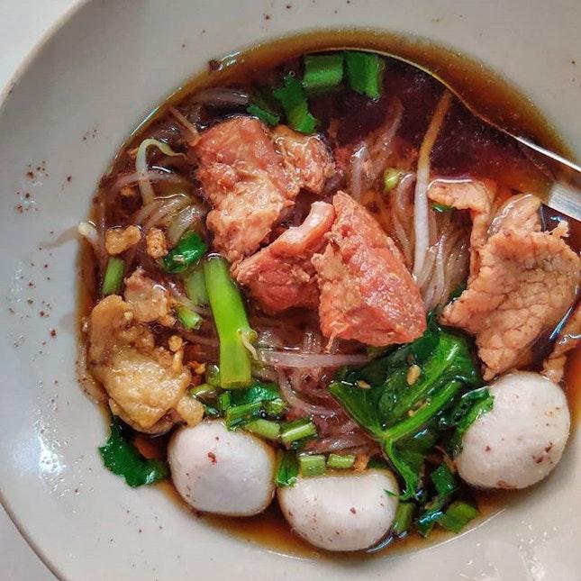 I don't just eat western food 🍽️ 🤣 : : #thailand #th #thai #bangkok #bkk #thaifood #food #foodie #foodies #burpple #foodporn #instafood #gourmet #foodstagram #yummy #yum #foodphotography #travel #travelphotography #wanderlust #mobilephotography #breakfast #noodles #pork #soup #hearty #บ้านหมูตุ๋นราชครู