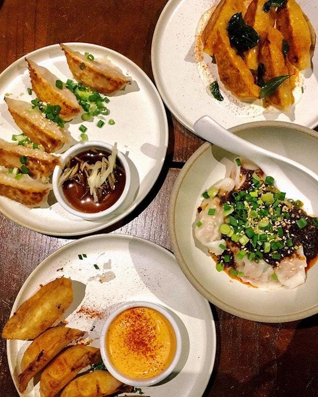 Lots of fillings for this dumpling restaurant - pun intended !