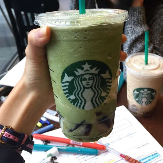 Green Tea Frappuccino with Earl Grey Jelly