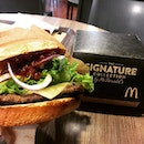 The Signature Collection burger from #McDonalds .