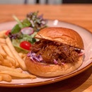 Pulled-pork Burger