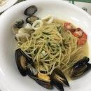 Seafood Spaghetti ($8.90)
