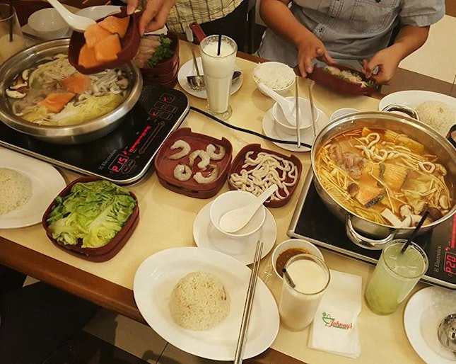 First meal in KL, thai steamboat feast.
