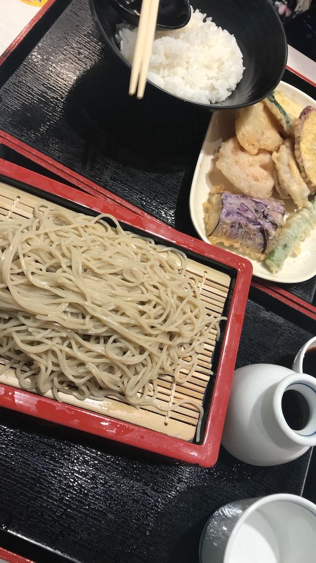 Delicious Soba and Tempura