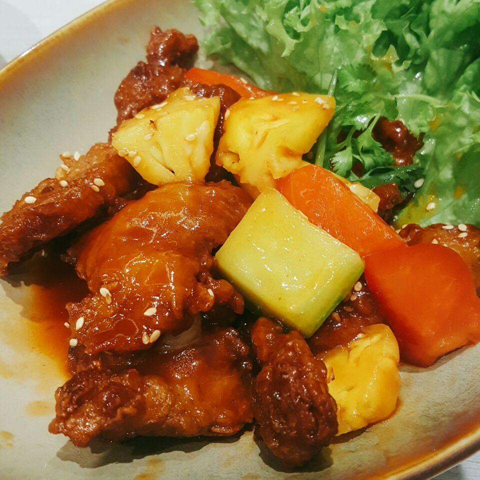 Vegetarian Sweet Sour Chicken