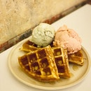 Burpple Ice Cream Waffles