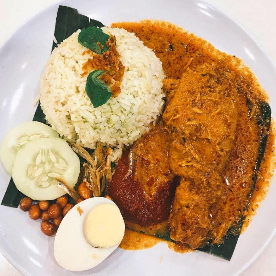 Nasi Rendang Chicken