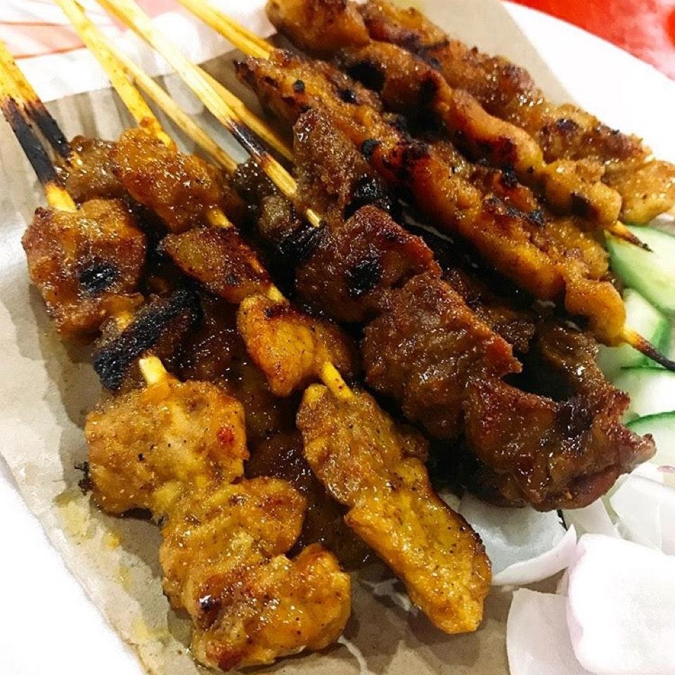 Pork-Mutton-Chicken Satays
