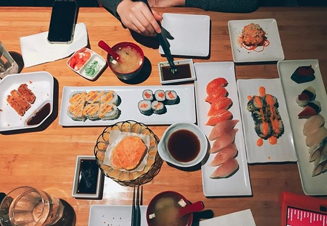 Joy is finding all you can eat sushi restaurant in Calgary!