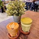 LAVENDER CAFFÈ LATTE & MATCHA GINGER LATTE