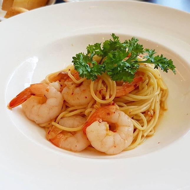 Spicy Shrimp Pasta ($14.70)