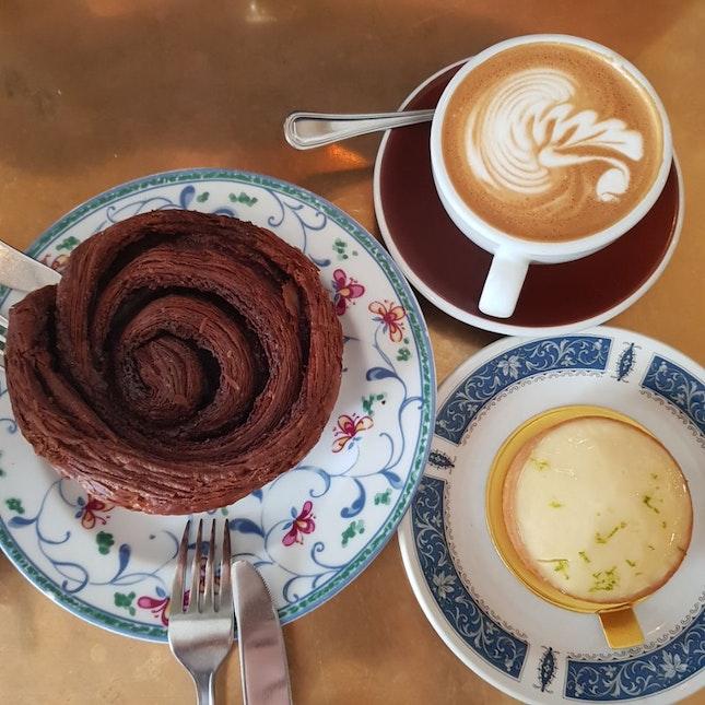 Lemon Tart, Chocolate Croissant