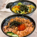 Salmon Mentaiko Don (23.30) & Salmon Don ($20.30)