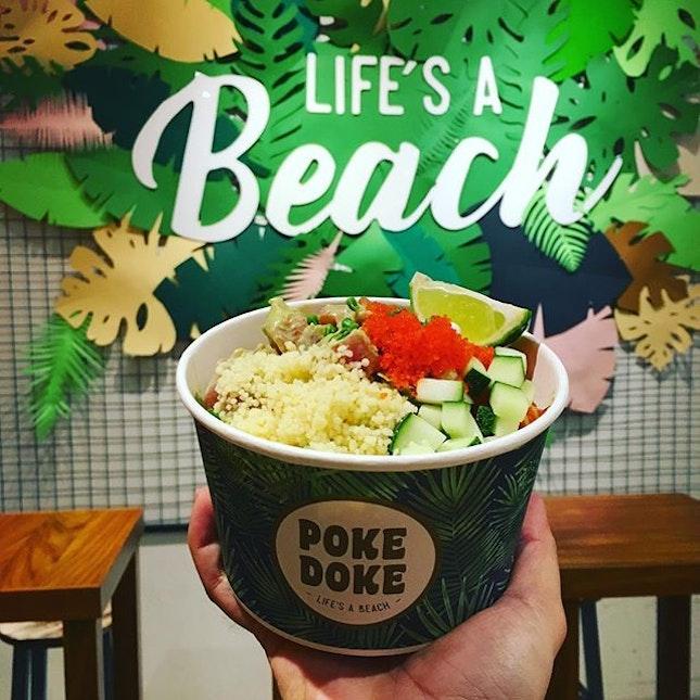 Life's a beach at Poke Doke!