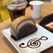 McCafe's Lavender & Oolong Tea Swiss roll ($3).