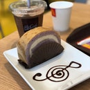 McCafe's Lavender & Oolong Tea Swiss roll ($3).