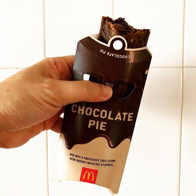 McDonald's Chocolate Pie and Thai Milk Tea ice cream cone.