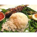 Simple dinner - Nasi Ulam Ikan #fish #vegetable #rice #food #kelantan #malaysia