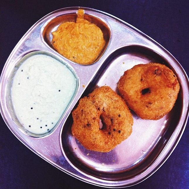 Vadai which is soft in the inside and crunchy on the outside.