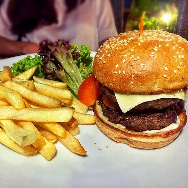 Bistro Cheese Burger At $15.90, this burger comes with 2 patties!