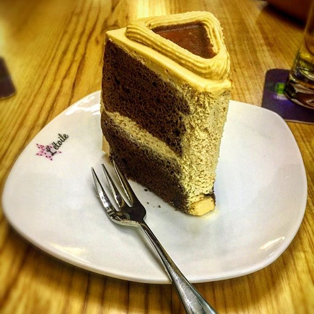 Seasalt caramel cake Love the texture of this cake as it is soft and moist..