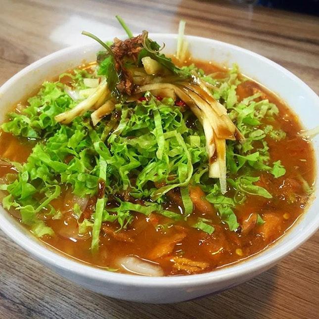 Penang laksa from Traditional Penang Food •Colleague say is not 'heavy tasting' enough!
