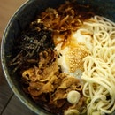 Gyu-Men Plus This bowl of comforting delight is sure to win fans over with their non pretentious beefy 'ramen.' This stall which uses halal ingredients serves rice bowls, noodle bowls and ramen.