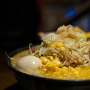 Stamina Miso Ramen Inspired by Mount Fuji, this ramen is loaded with loads of ingredients such as vegetables, corn, sukiyaki meat, torched pork belly Char Shu, ajitama and butter!