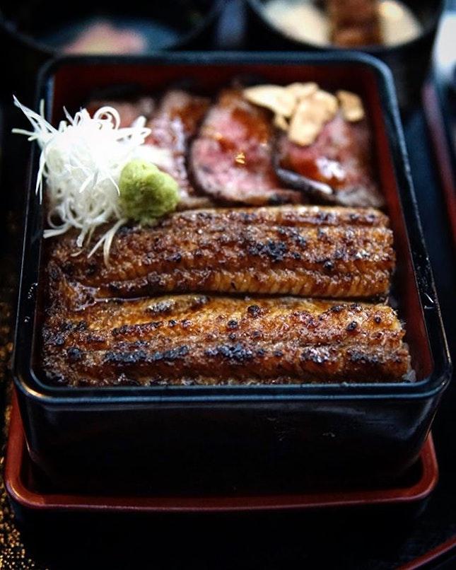 Unagi Wagyu Jyu Set @unagiyaichinojidining remains one of the premier restaurants for unagi.