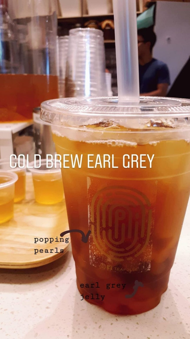 Cold Brew Earl Grey with Popping Pearls and Earl Grey Jelly