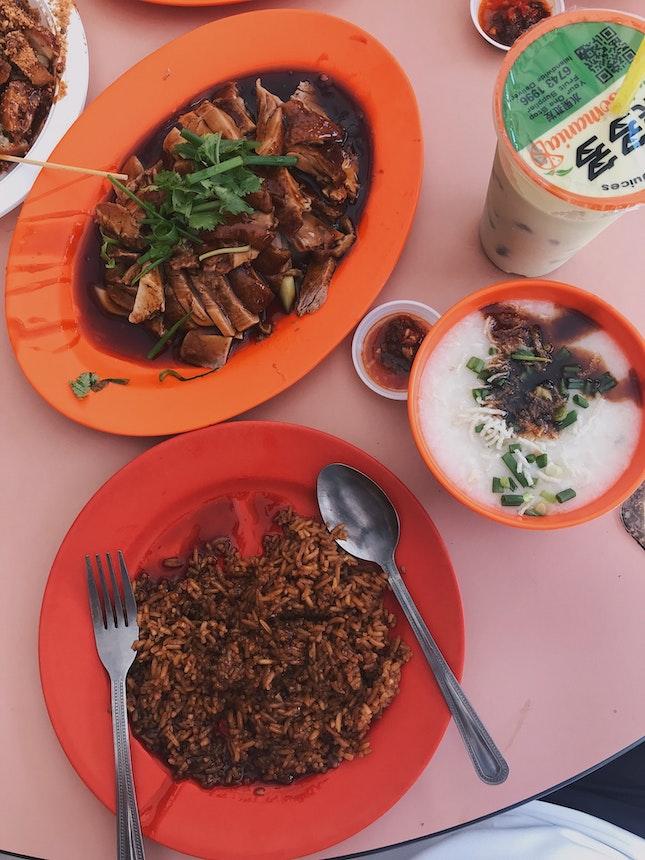 Braised Duck Rice + Porridge