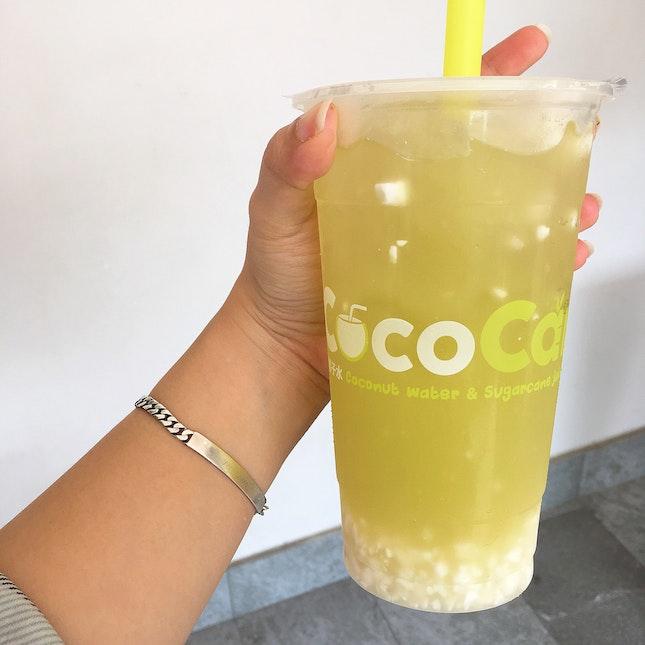 Cococane = Sugarcane Juice + Coconut Water