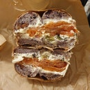 Lox On A Blueberry Bagel $12