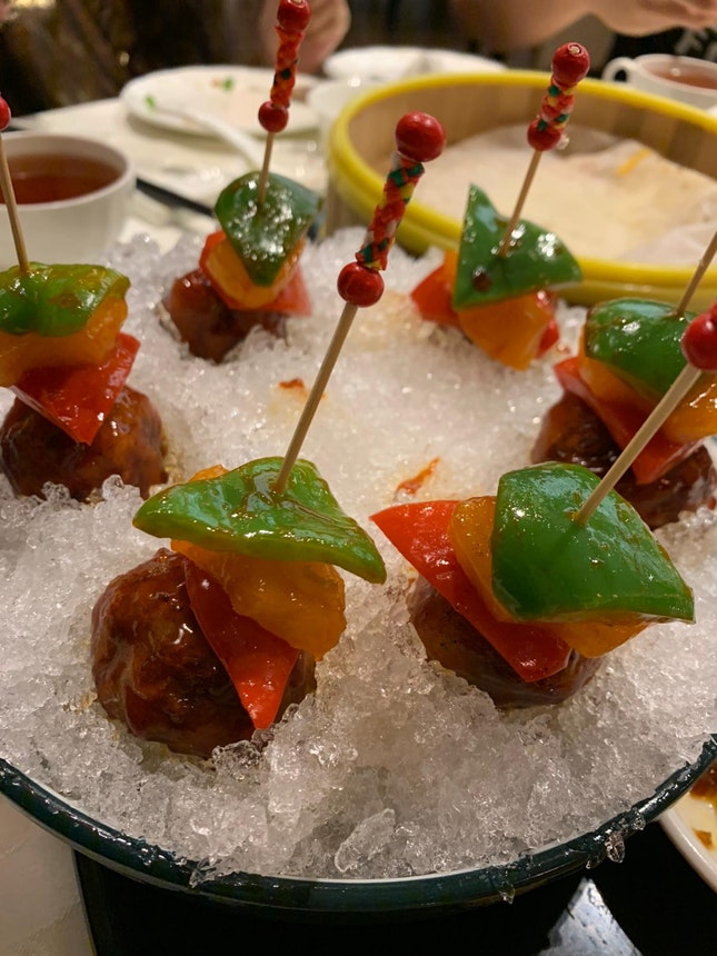 Sweet And Sour Pork On The Rocks