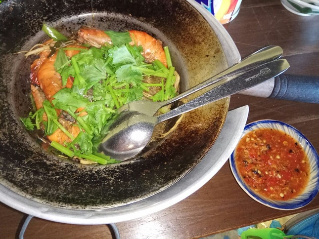 Baked Prawns With Glass Noodle 32++