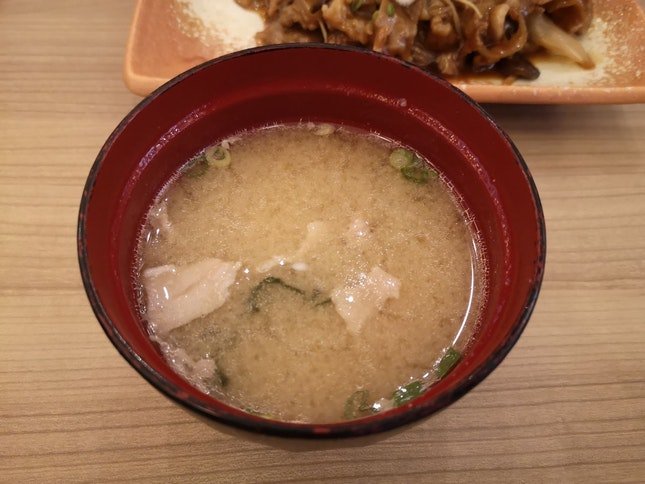Iberico Miso Soup (part Of Set, Avail Ala Carte Also)