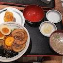 Lunch set(Original Mazesoba+Shrimp Inari) 12nett +2pcs Charsiu 2.5nett +Ajitsuke Tamago 1.5nett
