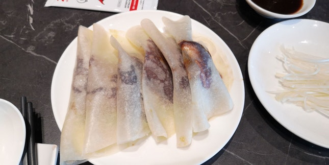 The Ducks Are Served Wrapped In Crepes