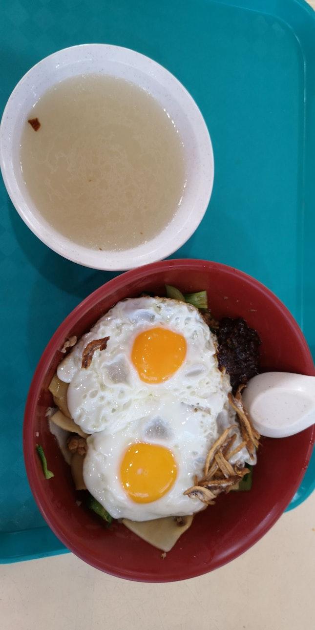 mee Hoon Kuay 3.5nett Dry +0.5 Extra Egg +0.5