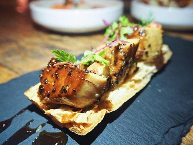 This is some really gorgeous foie gras tapas.