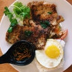 Grilled Pork Chop with Rice and Egg