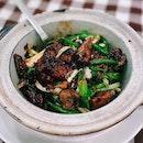 Fried Pig's Liver in Claypot 沙煲煎猪肝